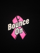 "Classic ""bounce On"" Logo located in center upper back with HHF ""Mercedes"" Large Logo on front."